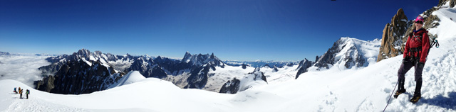 Aguille du Midi, Chamonix with Mt Blanc du Tacul in the background.