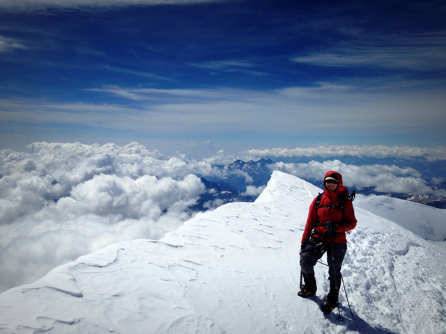 Anna on Signalkuppe, Monte Rosa
