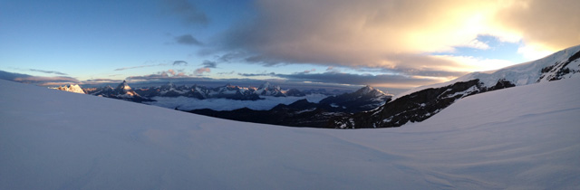 Sunrise above the Gorner Glacier, Zermatt