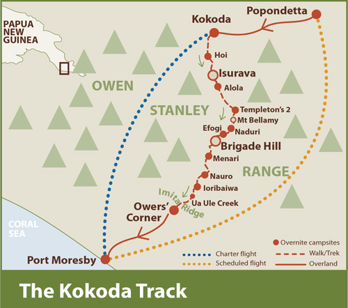 The route of the Trek