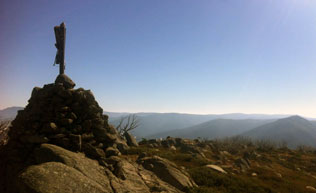 Cairn in the Alpine National Park