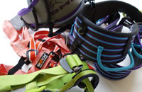 Rock climbing harnesses