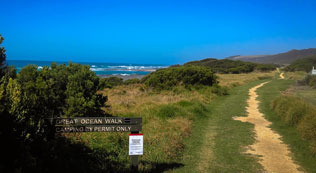 Beginning of the Great Ocean Walk