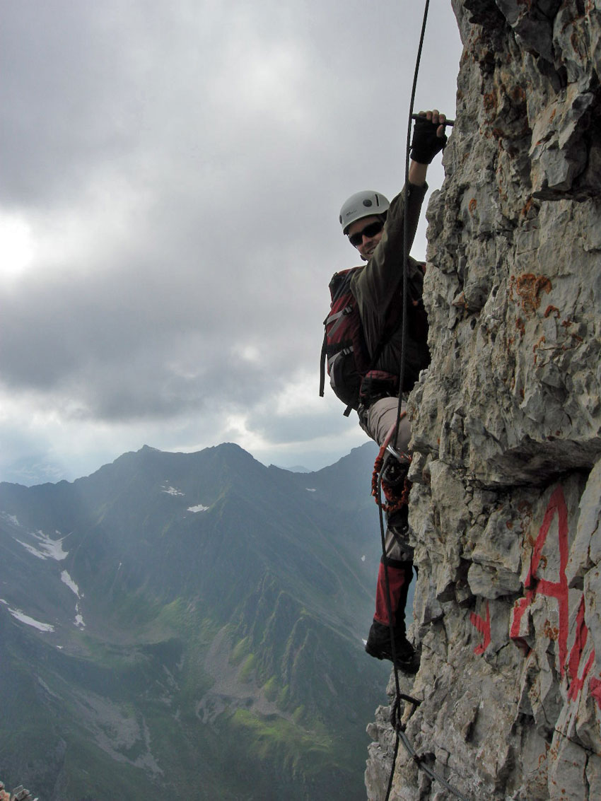 Climbing on the Ilmspitze