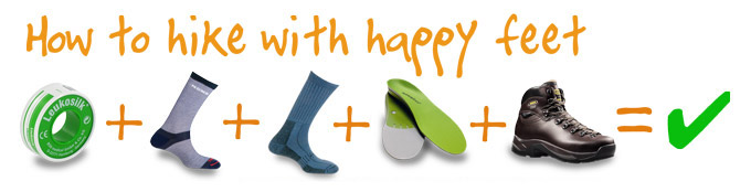 Blister Prevention Techniques - Taping, Socks, Superfeet, Boots equals happy feet