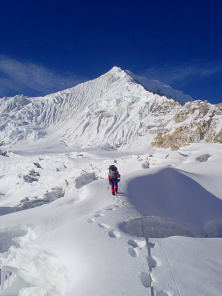 Ram Tang Neve on approach to Anidesha Chuli, Photo: Ben Dare