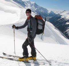 Merv skiing
