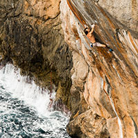 Chris Sharma. Photo by Adam Clark