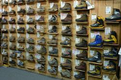 Bogong footwear display