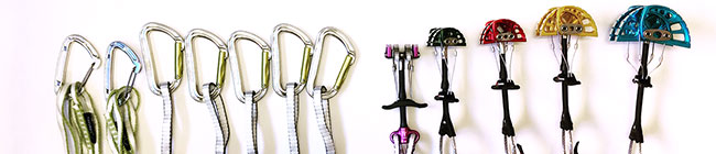 Trad rack elements for climbing