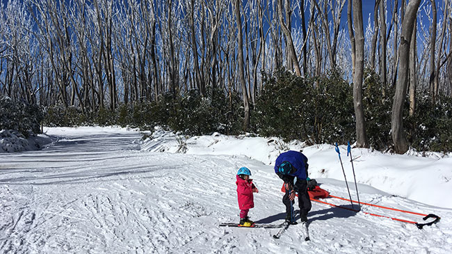 Skiing with a toddler