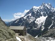 Refuge du Glacier Blanc. Ecrins Alps. France