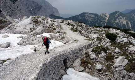 Hiking in the Julian Alps, Slovenia