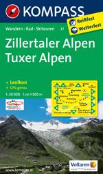 Zillertal 1:50,000 Map