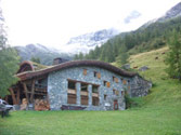 Rosuel Hut. Northern Vanoise. France. The hut shape is designed to cope with winter avalanches