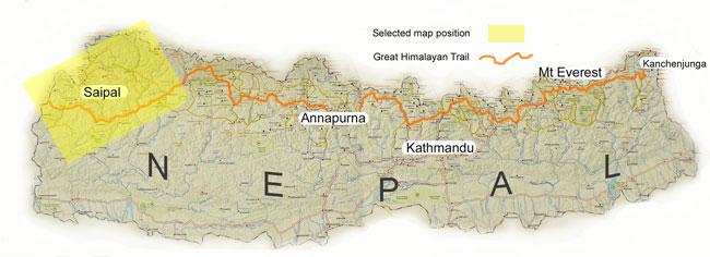 Nepal Far West locator map