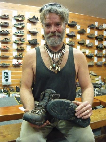 Jon Muir at Bogong store