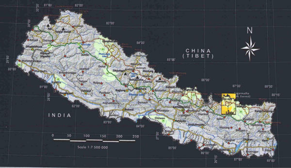 Everest Base Camp locator map