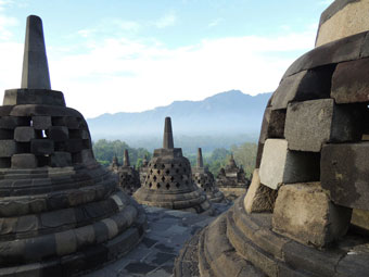 The stunning Borobudur temple in central Java