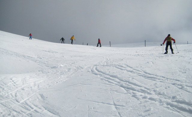 Backcountry skiers 'earning their turns' at the Summit Bowl