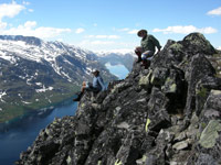 On Bessegen Ridge overlooking Lake Gjende