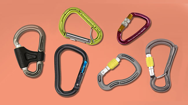 Locking carabiners for climbing