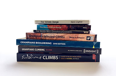 Grampians rock climbing guidebooks
