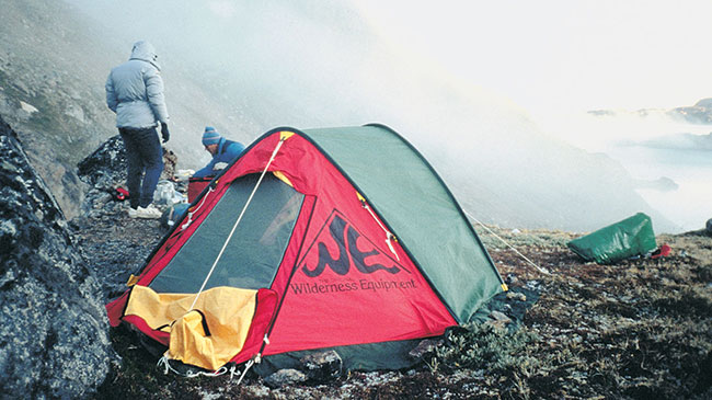 Wilderness Equipment tent, Greenland kayak expedition