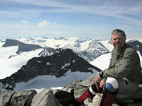 On the top of Norway. Summit Galdhøpiggen 2469m