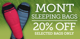 Mont Sleeping Bags 20 percent Off