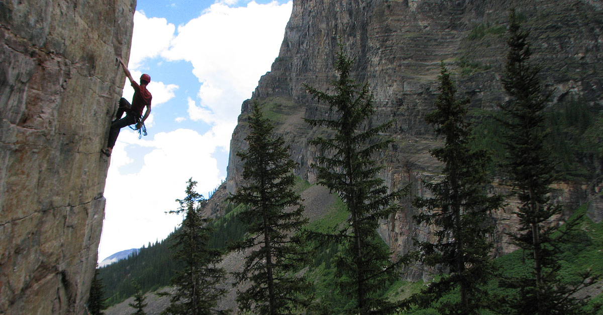 climbing outdoors