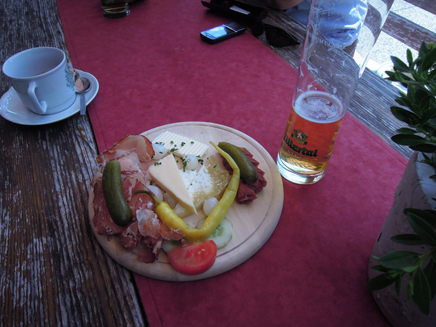 Traditional Austrian mountain meal