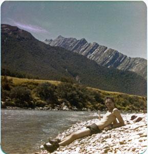 Relaxing by the Matukituki River