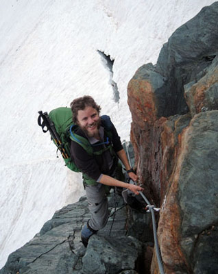 Climbing up to Erzherzog Hut