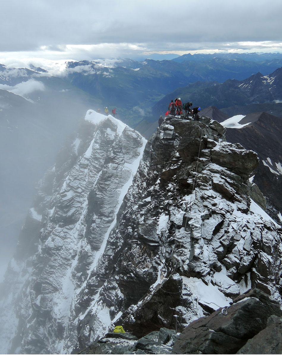 Climbing over the Kleinglockner