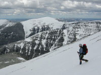Descending Rondslottet - Rondane National Park