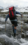 Poles are very useful for crossing streams