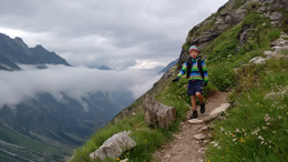 Callum in the Alps