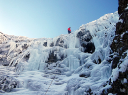 HP ice climbing at Mt Buller