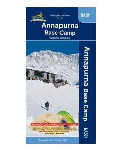 ANNAPURNA BASE CAMP MAP 1:50,000