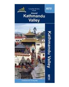 AROUND KATHMANDU VALLEY MAP 1:60,000