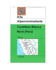 Cordillera Blanca North map 1:100 000