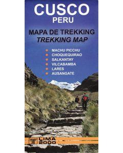 CUSCO PERU MAP 1:160,000