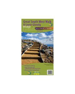 MERIDIAN GREAT SOUTH WEST WALK & LOWER GLENELG MAP 1-50,000