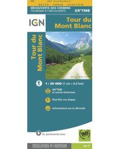 TOUR DU MONT BLANC IGN 1:50,000