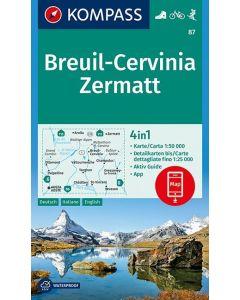 KOMPASS Breuil, Cervinia, Zermatt 1:50,000