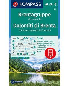 KOMPASS DOLOMITI DI BRENTA Map 1:50,000