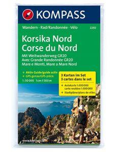 KOMPASS KORSIKA NORD Map 1:50,000