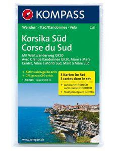 KOMPASS KORSIKA SUD Map 1:50,000