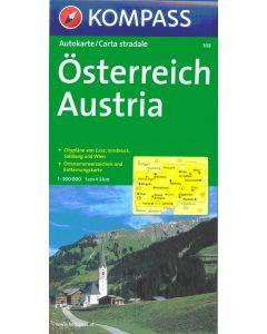 KOMPASS OSTERREICH (AUSTRIA) Map 1:300,000